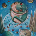 "Hopi Dream ""Peaceful Activits"" Oil on canvas"