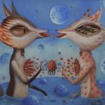 "Hopi-Dream ""Magnetics"" oil on canvas"