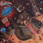 """Hopi Dream """"Tao"""" acrylic on wood"""