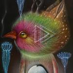 """Solar Mind"", oil on canvas"