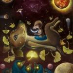 """Madama's multiverse, oil on canvas"